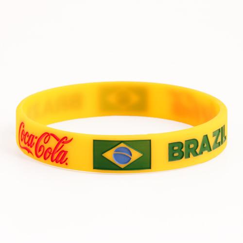 BRAZIL and Coca Cola Wristbands