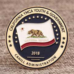 California  Republic YMCA Pins