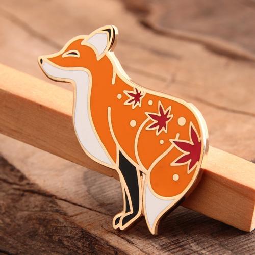 Custom Fox Lapel Pins