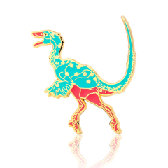 Sinosauropteryx Dinosaur Enamel Pins