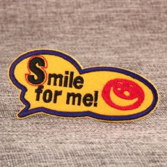 Smile Embroidered Patches