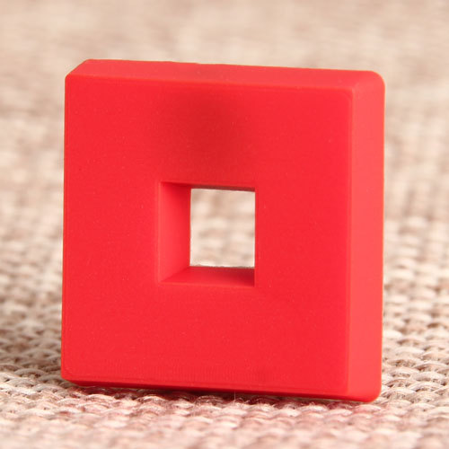 Red Pane PVC Lapel Pin