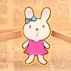 Bunny Embroidered Patches
