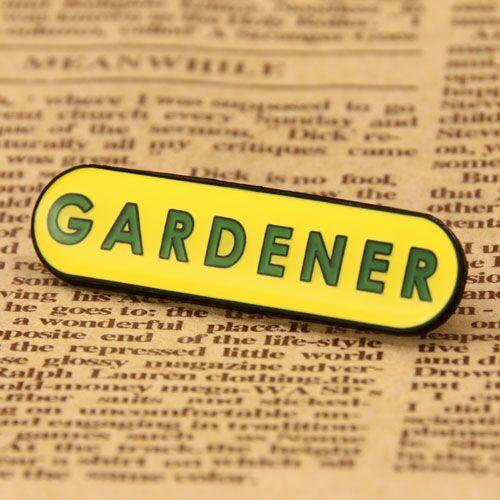 Custom Gardener Enamel Pins