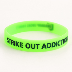 Strike out Addiction Wristbands