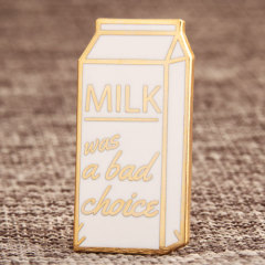 Custom Milk Box Lapel Pins