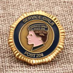 Service Girl Challenge Coins