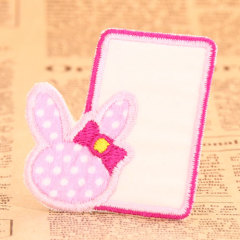 Pink Bunny Custom Patches