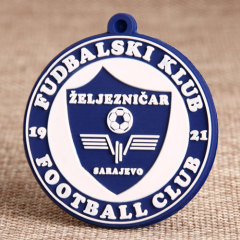 Football PVC Keychain