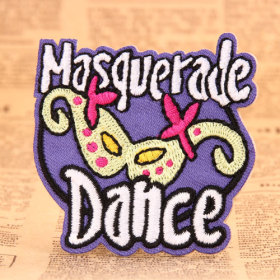 Masquerade Dance Embroidered Patches