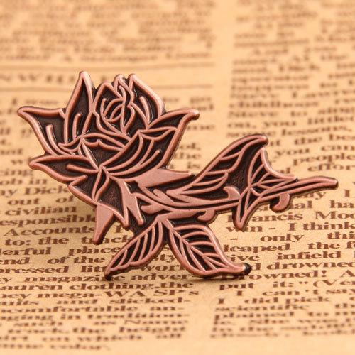 Custom Antique Rose Pins