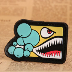 Yellow Shark PVC Patches
