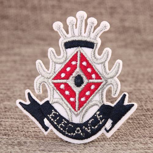 Elegant Crown Embroidered Patches
