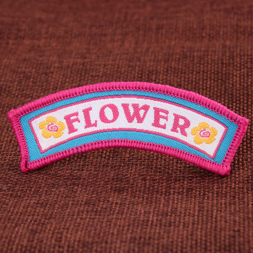 Flower Arch Embroidered Patches