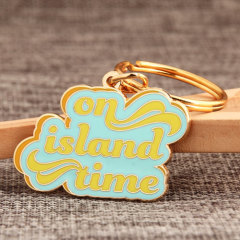 On Island Time Custom Keychains
