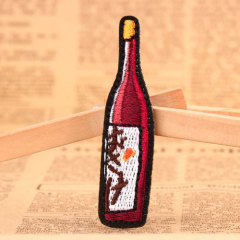 Red Wine-bottle Custom Patches