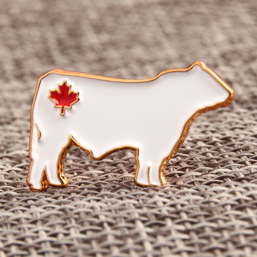 Maple Leaf Cow Lapel Pins