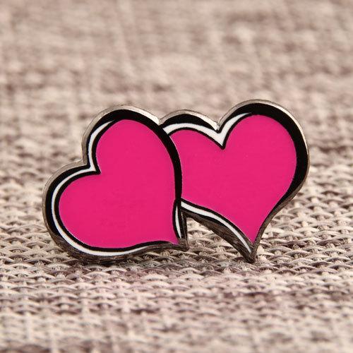 Double Hearts Lapel Pins