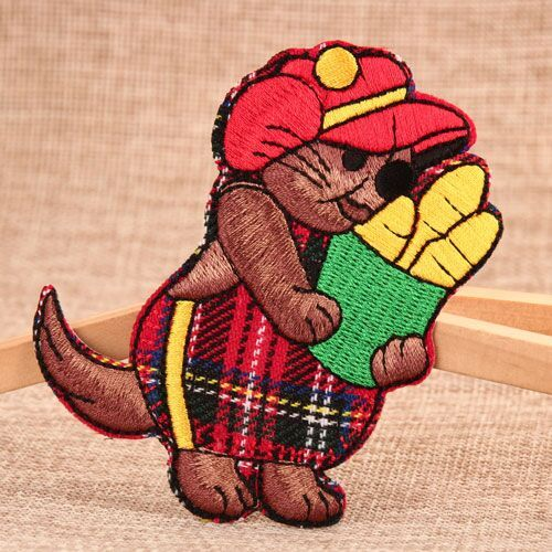 Brown Bear Embroidered Patches