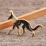 Custom Wolf Enamel Pins
