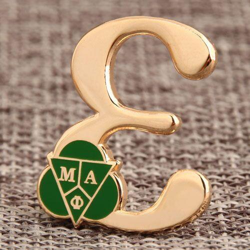 Greek Letter Custom Pins