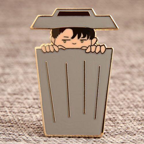 Trash Can Boy Lapel Pins
