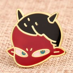 Red Imp Custom Enamel Pins