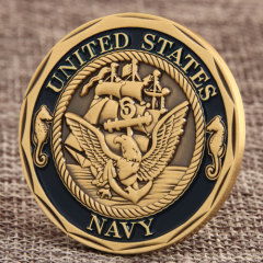 Shellback Crossing the Line Challenge Coin