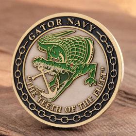 US Gator Navy Challenge Coins