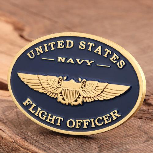US Navy Flight Officer Challenge Coin