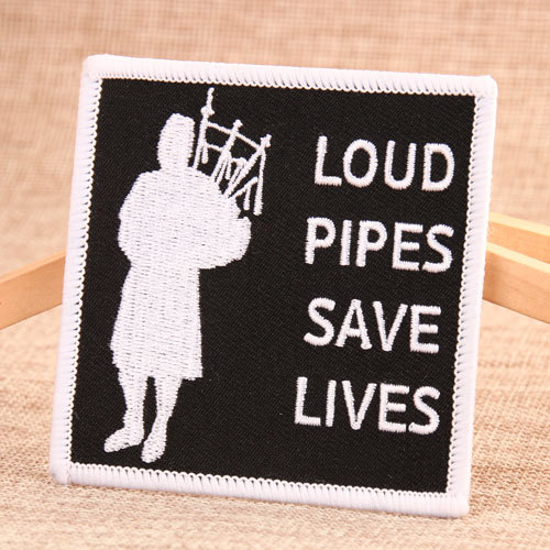 Loud Pipes Save Lives Name Patches