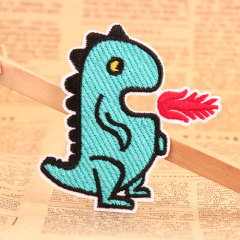 Fire-Dragon Embroidered Patches