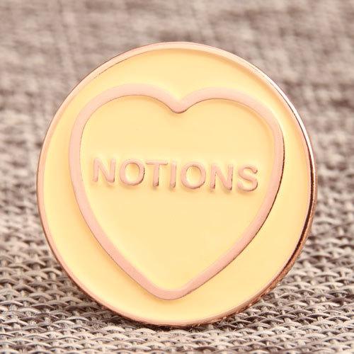 Notion Heart Custom Pins