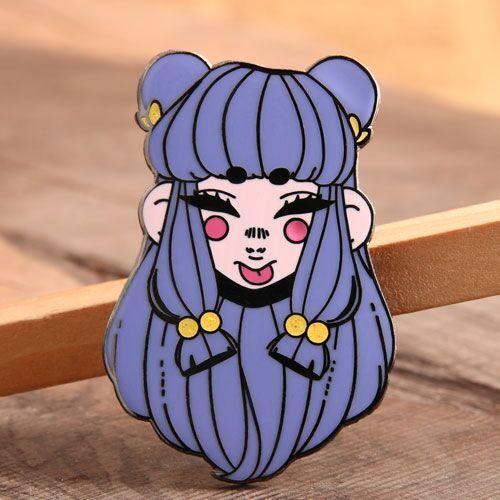Lovely Girl Enamel Pins