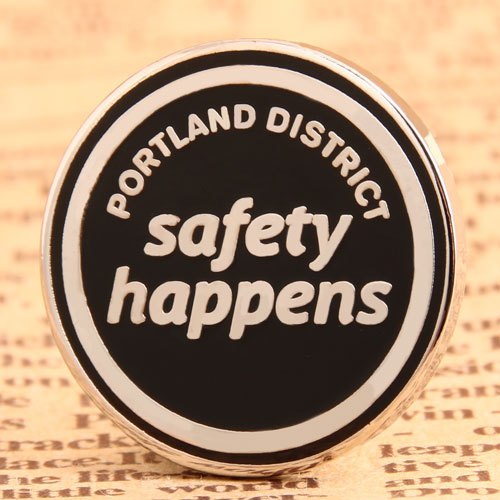 Safety Happens Custom Pins