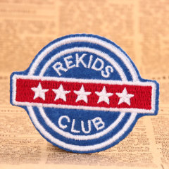 Rekids Club Embroidered Patches