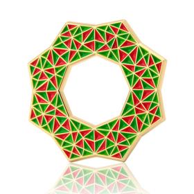 Christmas Wreath Enamel Pins