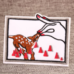 Feeding Deer Custom Patches Online