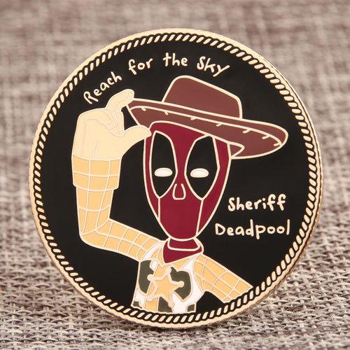 Sheriff Deadpool Custom Lapel Pins
