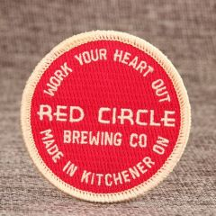 Red Circle Cheap Custom Patches