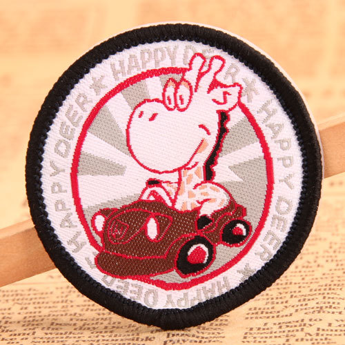 Happy Deer Woven Patches