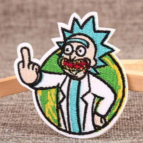 Rick And Morty Embroidered Patches