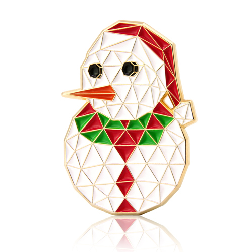 Christmas White Snowman Enamel Pins