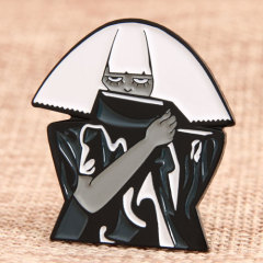 Covered Face Man Custom Pins