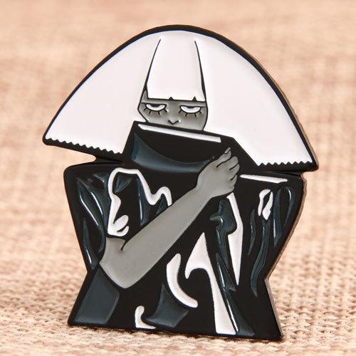 Covered Face Man Custom Pins
