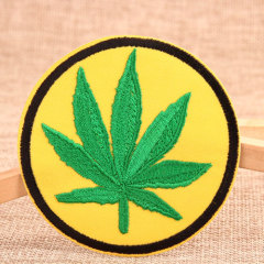 Marijuana Leaf Custom Patches