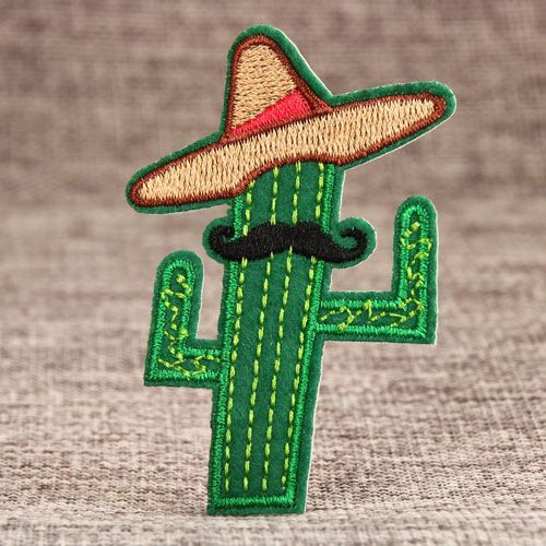 West Cowboy Cactus Custom Embroidered Patches