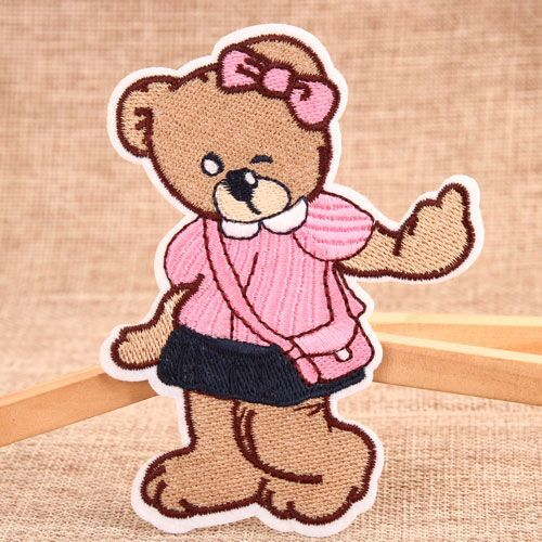 Lady Bear Embroidered Patches