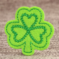 Green Clover Custom Embroidered Patches