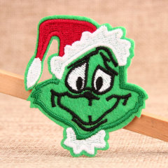 The Green Santa Cluas Custom Embroidered Patches